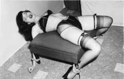 Submissive Tied To Chair