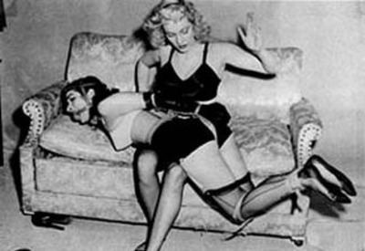 Mistress Spanking Her Submissive